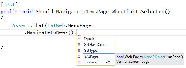 Method chaining - Test scripts